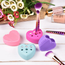 Makeup Brush Cleaner Holder Scrubber Heart Silicone Glove Free Delivery NEW