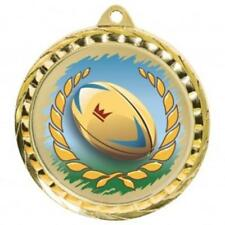 Rugby Medal 60 mm with ribbon Engraving up to 30 Letters with case option