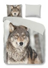 good morning! Bettwäsche Set Wolf multi Wildtier Tiermotiv Wendeoptik