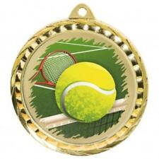 Tennis Medal 60 mm with ribbon Engraving up to 30 Letters with case option
