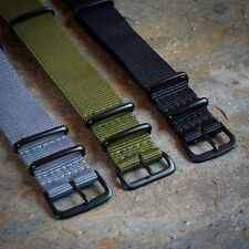 Nato Watch Strap 18mm 20mm 22mm Black Grey Green Military G10 Nylon