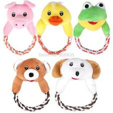 Pet Toy Squeaky Sound Plush Squeaky Dog Chew Tool Cute Bear Frog Pig Duck Design