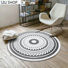 Nordic Fashion Round Carpet Coffee Table Room Bedroom Living Room Rug Garden Kid