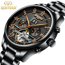 Top Luxury Fashion Automatic Mechanical Watch Men Stainless Steel Waterproof Cal