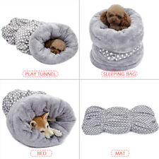 Pet Cat Dog Nest Sleeping Bag Puppy Soft Warm Cave Bed House Mat Pad Blanket