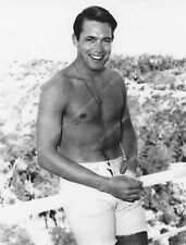 8b20-6431 BELLISSIMO E shirtless Chad Everett in cortile 8b20-6431