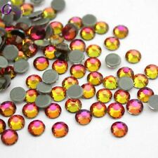 1440pcs SS6-SS20 Crystal Red flame 3D Glue on FlatBack Nail Art Decorations DIY