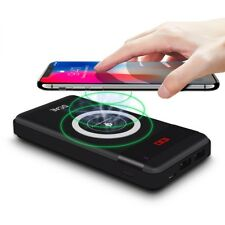 Wireless Charger Power Bank Qi 10000mAh With 2 USB Ports Fast Charging Powerbank