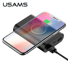 QI Wireless Charger 8000mah Power Bank 5V 2A With 2USB Ports Universal Powerbank