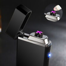 USB Electric Double Arc Lighter Rechargeable Windproof Torch Pulse Cross Plasma