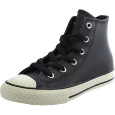 Converse Chuck Taylor All Star Hi Nero Tumbled Leather Trainers