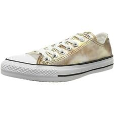 Converse Chuck Taylor All Star Ox Argento/Oro Tessile Trainers