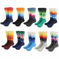 Male Brand Happy Socks Gradient Color summer Style Cotton Wedding sock Men's Kne