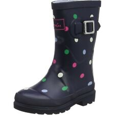Joules Printed Welly Spot Blu Marino Gomma Junior Wellingtons Stivali