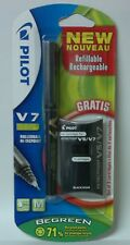Pilot V7 Cartridge System Liquid Ink Rollerball 0.7mm Pen with 3 cartridges