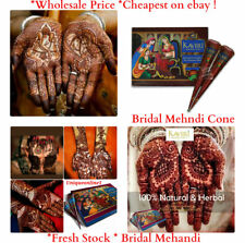 Fresh Brown Quality Natural Indian Henna Mehndi Tattoo Kit Paste Cones *CHEAPEST