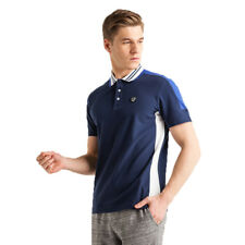 POLO IN MICRO PIQUET STRETCH UOMO EMPORIO ARMANI 7 EA7 COLORE BLU - 3ZPF84PJ61Z