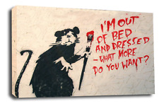 LARGE BANKSY ART PICTURE RAT LOVE PEACE HOPE CANVAS WALL COLLECTION PRINT