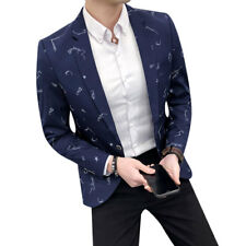 Mens Casual Blazer New Fashion Slim Fit Suit Jacket M-3Xl Single Button Spring C