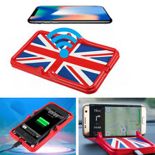 Qi 5W Wireless Charger Car Dashboard Mount Holder Stand Non-Slip Pad for iPhoneX