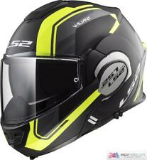 Casco LS2 VALIANT FF399 LINE Matt Black H-V / Giallo