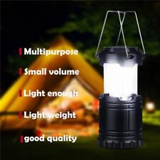 LED Outdoor Solar Lantern Lamp Charger For Camping Collapsible Lighting Portable
