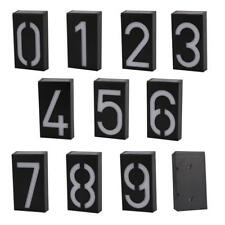 Solar Panel House Door Address Plaque Digit LED Wall Light Solar Powered 6 LEDS