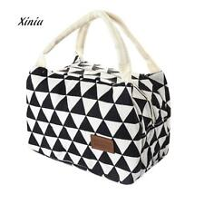 New Fashion Lunch Bag For Women Kids Men Insulated Canvas Box Tote Bag Thermal C