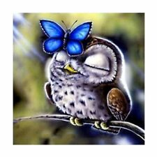 Diy 5D Diamond Embroidery Painting Owl Butterfly Cross Stitch Craft Home Decor 2