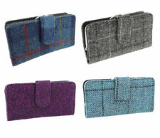 Ladies Long Purse With Clasp Authentic Harris Tweed Available In Various Colours