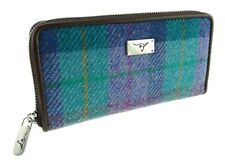 Ladies Long Zip Purse Authentic Harris Tweed Available in Various Colours