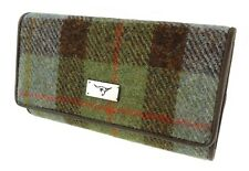 Ladies Long Purse With Card Section Authentic Harris Tweed In Various Colours