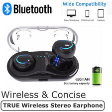 COPPIA AURICOLARI BLUETOOTH 4.2 CUFFIE WIRELESS MICROFONO PER SAMSUNG IPHONE X 8