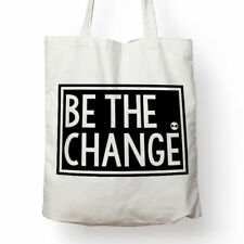 Be The Change canvas tote bag