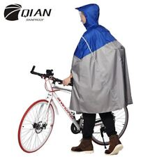 Impermeable Outdoor Fashionable Rain Poncho Backpack Reflective Tape Design Clim