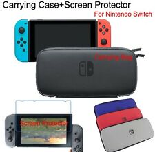 For Nintendo SWITCH: Pouch BAG + Screen Protector - Travel Storage Case - New