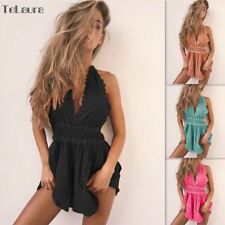 Sexy Beach Cover Up Women Bikini Cover Up Women Rompers Jumpsuit Short Summer Ha