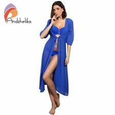 Swimsuit Cover Up Women Sexy Beach Cover-Ups Chiffon Long Dress Solid Beach Bath
