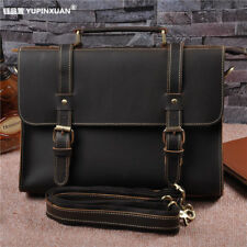 "Yupinxuan ed Genuine Leather Men Briefcase Cowhide Male Messenger Bag 12"" Laptop"