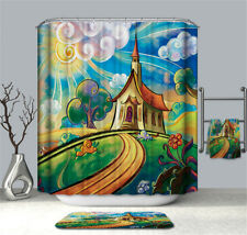 Fantasy Vintage Curtain For The Bathroom Shower Curtain Polyester 3D Waterproof1