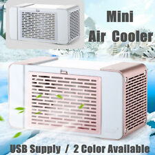 USB Mini Portable Air Conditioner Cooler Fan Personal Space Cooling Home Office