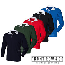 FRONT ROW CHILDREN'S RUGBY SHIRT LONG SLEEVE WHITE COLLAR SPORT FOOTBALL BOYS