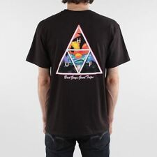 HUF Men's New Good Trips Triangle Short Sleeve Regular Fit Cotton T-shirt Black