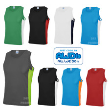 AWDis COOL VEST GYM SPORT TANK TOP WICKABLE RUNNING QUICK DRY UPF SUN PROTECTION