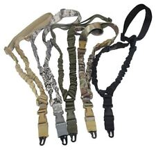 Tactical Hunting Gun Sling Adjustable 1 Single Point Bungee Rifle Sling Strap Sy