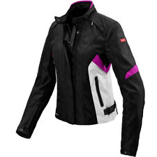 Cazadora spidi flash h2out lady negra / fucsia