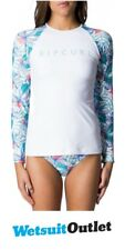 2018 Rip Curl Tropic Tribe Relaxed Long Sleeve Rash Vest White WLY7QW