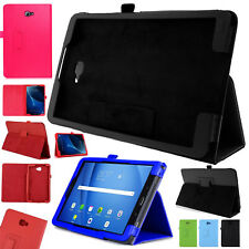 """Leather Flip Book Shell Case Cover For Samsung Tab A 10.1"""" Inch T580 T585 [2016]"""