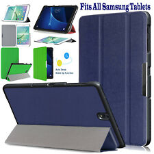 "Smart Leather Case Book Cover For All Samsung Tablets Tab A 10.1"" S2 9.7"" E 9.6"""