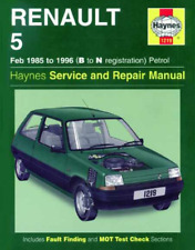 Haynes Workshop Manual Renault 5 1985-1996 Petrol Van GT Turbo service Repair